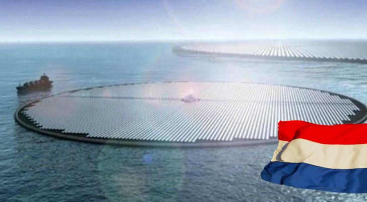 Un enorme impianto solare galleggiante in mezzo al mare: così l'Olanda darà una mano al Pianeta