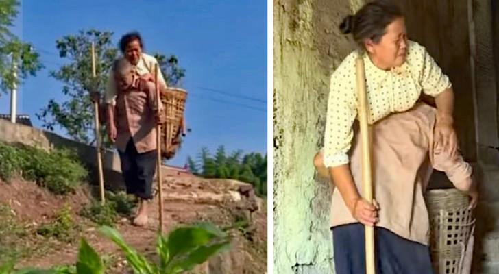 La femme paralysée guide son mari aveugle : voici ce qu'est le grand amour !