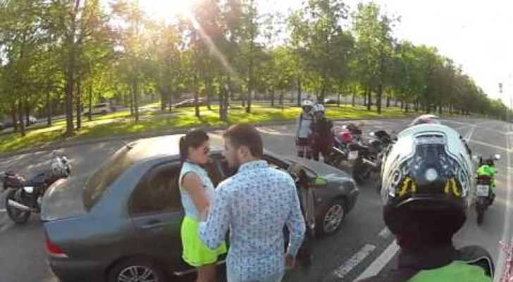 The aggression of these bikers reveals an unexpected ending