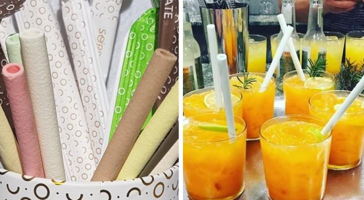 Cannucce commestibili: dopo che finisci il drink, puoi anche mangiarle