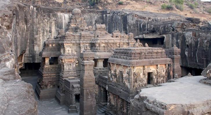 In India esiste un tempio ricavato da un unico blocco roccioso: le sue immagini sono uniche al mondo