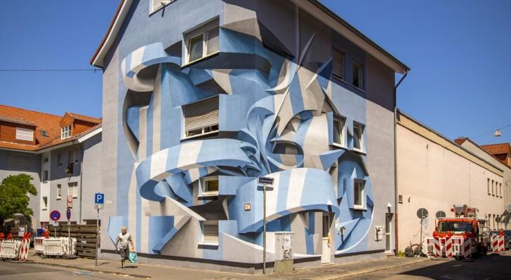 Cet artiste italien associe graffiti et illusions d'optique : impossible de comprendre ses œuvres au premier coup d'œil