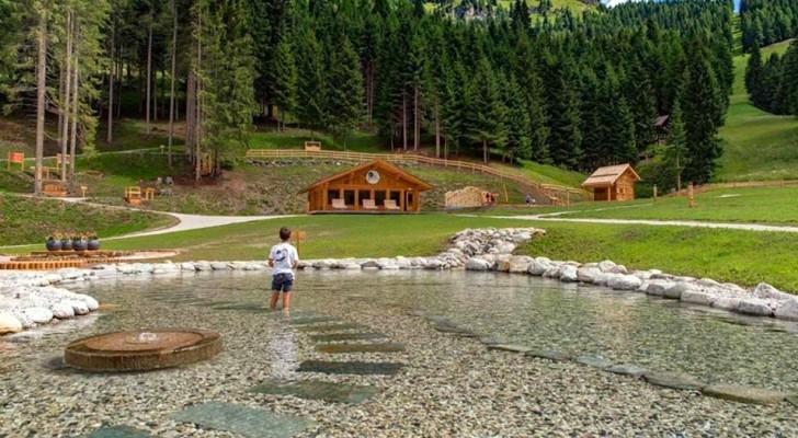 Sulle Dolomiti c'è un meraviglioso parco giochi gratuito immerso nella natura: un vero paradiso per bambini e adulti