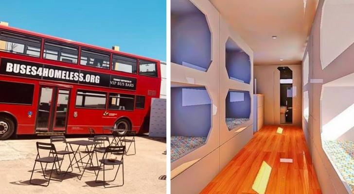 Londen: de beroemde rode bussen worden schuilplaatsen voor daklozen