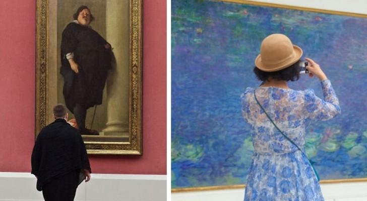 Il photographie les gens au musée qui font corps aux œuvres d'art : le résultat est dingue !