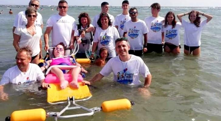 Ravenna: riapre e si ingrandisce la spiaggia che accoglie persone con gravi disabilità motorie