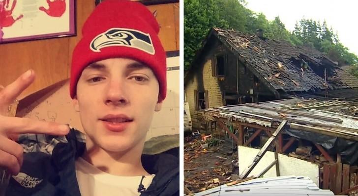 O gesto heróico de um tio que entrou em uma casa em chamas para salvar seus sobrinhos