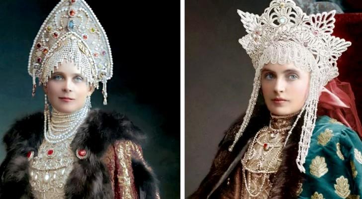Una artista ha ritrovato e colorato queste vecchie foto dei Romanov, gli ultimi Zar di Russia