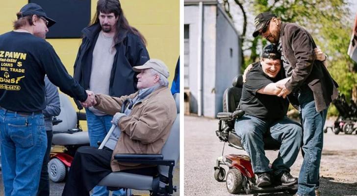 Un entrepreneur offre des centaines de fauteuils roulants électriques à des personnes handicapées et âgées : quelques unes n'avaient pas quitté leur domicile depuis des années