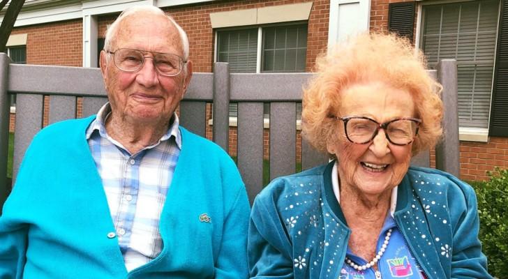 Elle a 102 ans et lui 100 : ils tombent follement amoureux l'un de l'autre et décident de se marier