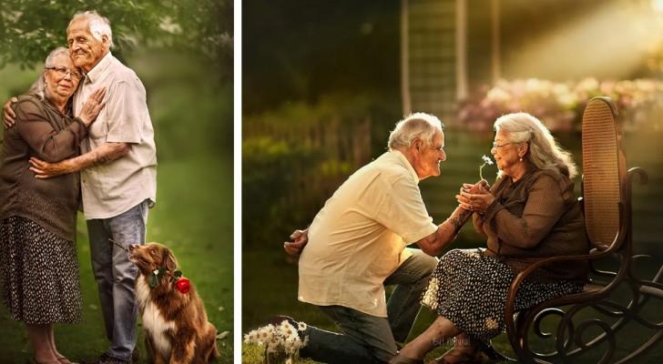 Questa fotografa ritrae coppie di anziani come se fosse il loro primo giorno di fidanzamento
