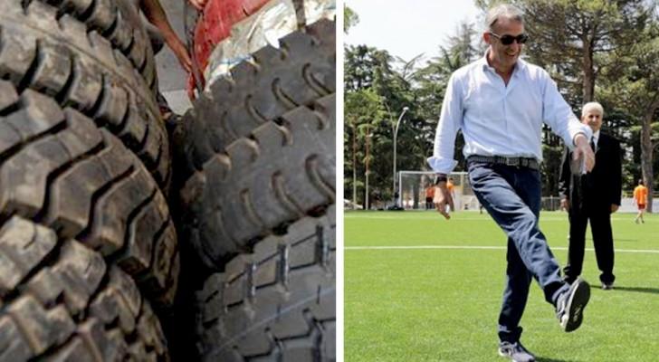 A Caserta hanno trasformato 87 tonnellate di vecchi pneumatici in campi da calcio