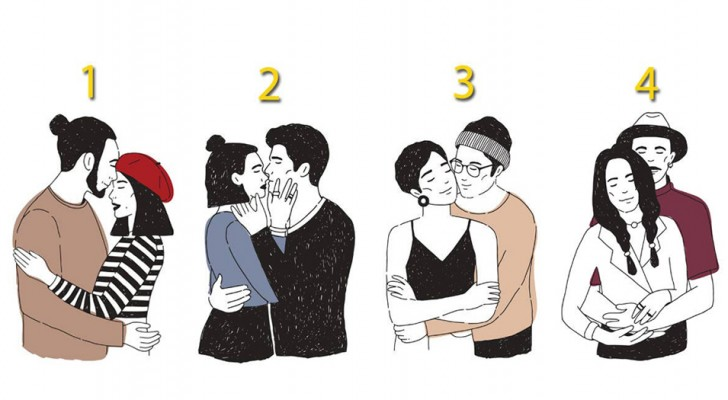 Which hug attracts you the most? The answer will reveal what matters most to you in a relationship