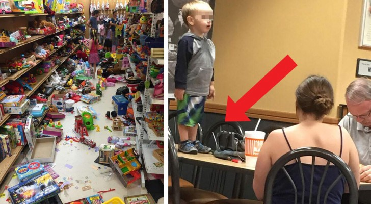 Some parents and their children can be unbelievably rude! Here are 15 photos that will make you feel like smacking someone but, of course, you won't!