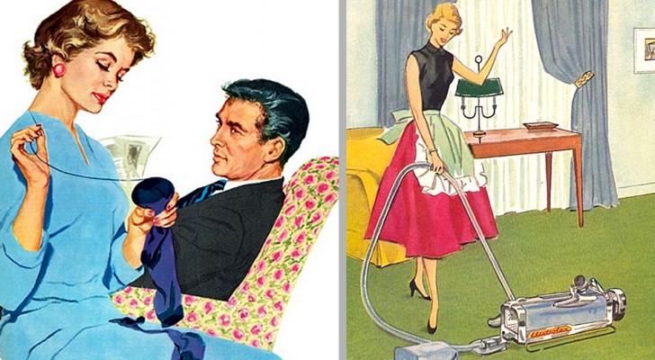 Une bonne épouse ne contredit pas son mari : ces photos nous montrent comment le rôle de la femme a changé en 50 ans