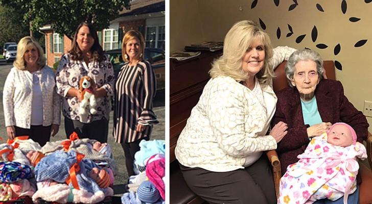 Esta asociación regala muñecas a los enfermos de Alzheimer, para reconfortarlos y ayudarlos a vivir mejor