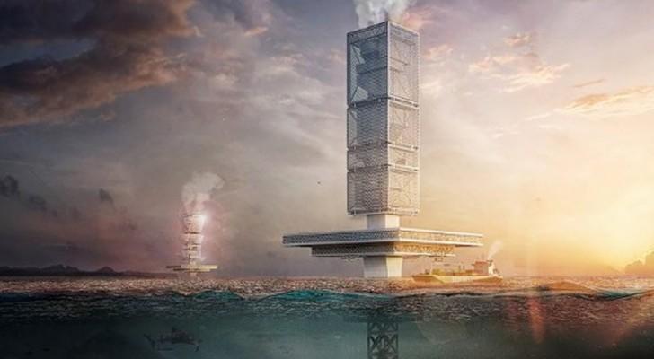 Un gratte-ciel flottant pour libérer les mers des déchets et produire de l'énergie : l'idée brillante d'un architecte