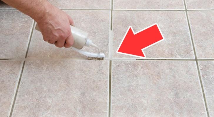Un trucco per pulire le mattonelle senza sforzo e senza utilizzare prodotti chimici