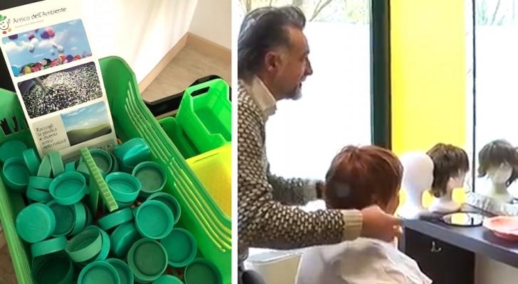 Questa associazione raccoglie tappi di plastica per finanziare le parrucche delle pazienti oncologiche