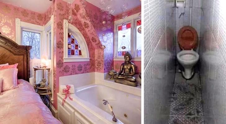Een makelaar deelt foto's van de vreemdste en apartste huizen waar ze is geweest