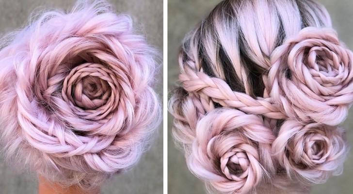 Questa donna crea meravigliose acconciature a forma di rosa... e migliaia di persone ne sono già innamorate