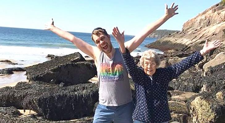 Le petit-fils découvre que sa grand-mère n'a jamais été à la mer : il part avec elle pour un voyage mémorable