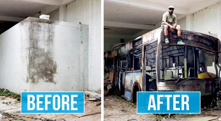 Cet artiste de rue redonne vie à des espaces urbains décadents avec des bombes de peinture et de la créativité