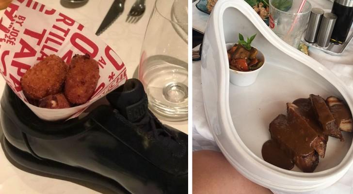 20 persone che avrebbero preferito essere servite con dei normalissimi piatti invece di queste creazioni