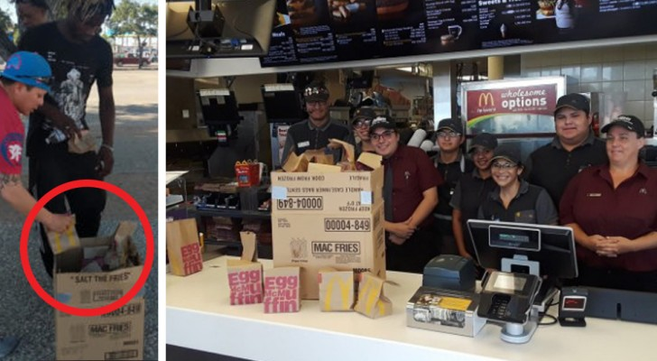 She tries to feed the homeless but the food finishes after only a few minutes! A McDonald's manager decides to help her.