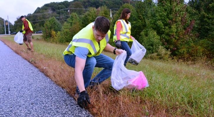 Den Müll anderer zu sammeln trägt zum Schutz der Umwelt, unserer Gesundheit und auch des Bankkontos bei