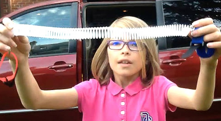 This 9-year-old girl has invented a brilliant system to keep parents from forgetting their children in the car ...
