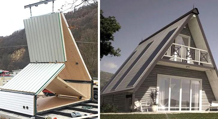 Hier ist MADI, das faltbare, wirtschaftliche und grüne Haus, das in nur 6 Stunden aufgebaut werden kann