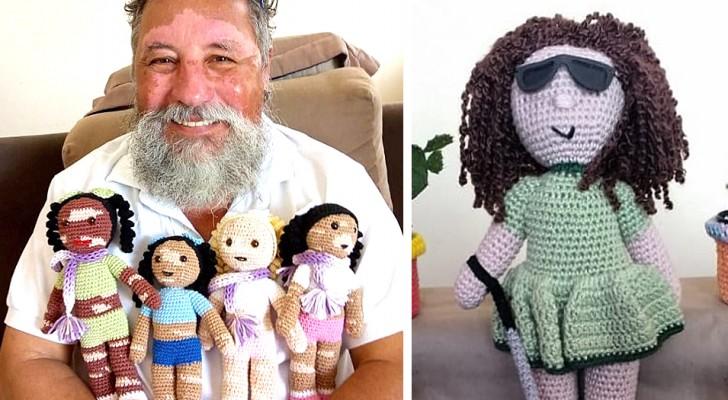 Questo nonno realizza delle originali bambole all'uncinetto contro ogni pregiudizio e discriminazione