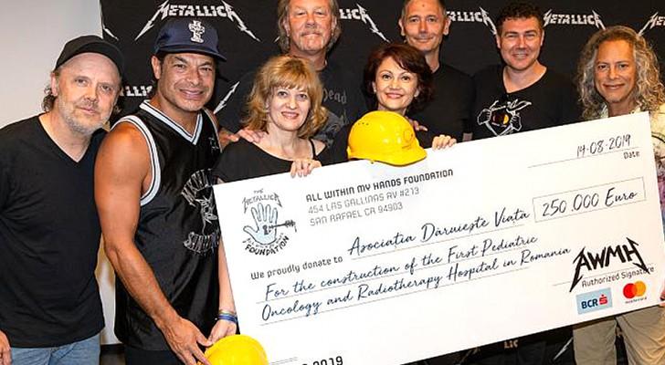 Metallica fait don de 250 000 euros à un hôpital d'oncologie pédiatrique : le premier sera en Roumanie