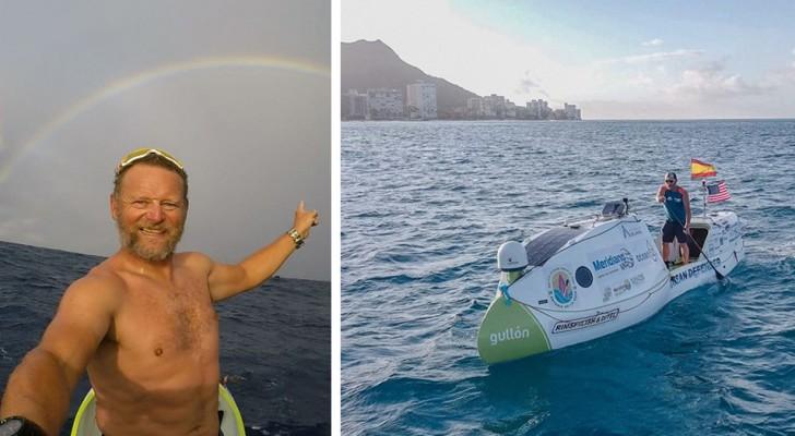 Er reist 2 Monate lang auf einem Paddle-Board von Kalifornien nach Hawaii: Jeden Tag sieht er Plastikteile im Meer