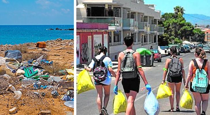 Estos jóvenes han creado un grupo de WhatsApp para limpiar calles, parques y playas de su ciudad