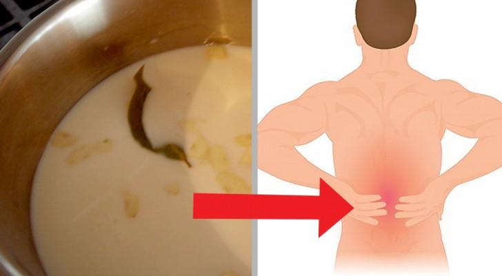 Milch und Knoblauch, ein natürliches Hilfsmittel gegen Rückenschmerzen und Ischias