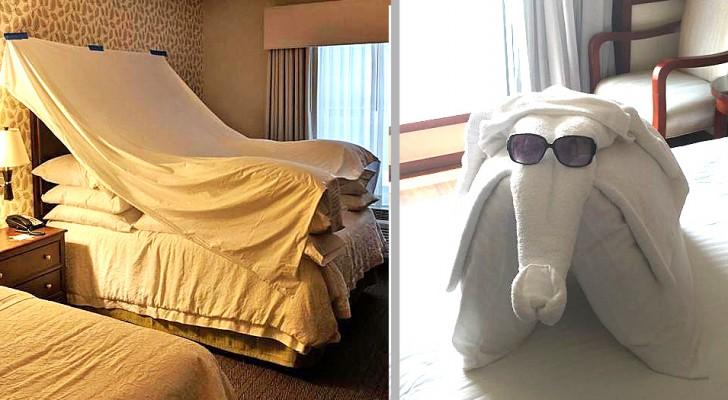 18 Hotelfotos, die die Gäste mit ihrer Kreativität überraschten