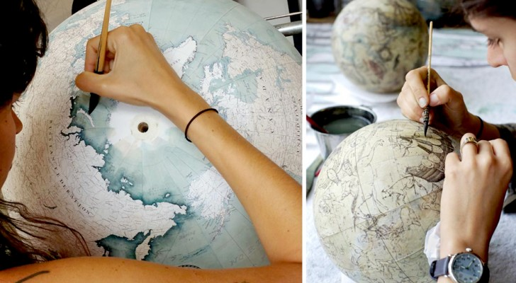 Der Globus, ein uraltes Objekt, das heute in nur zwei Werkstätten auf der ganzen Welt hergestellt wird