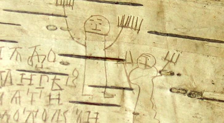 I disegni di Onfim, il bambino del XIII secolo che scriveva sulla corteccia di betulla