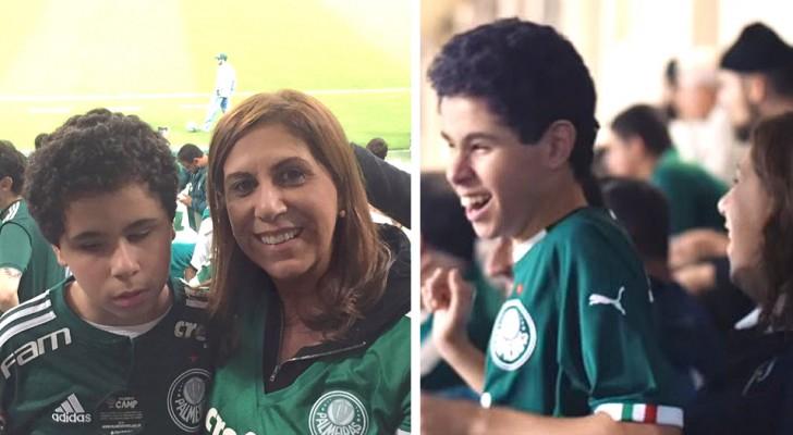 Cette mère amène son enfant non voyant au stade et lui raconte les matchs minute par minute