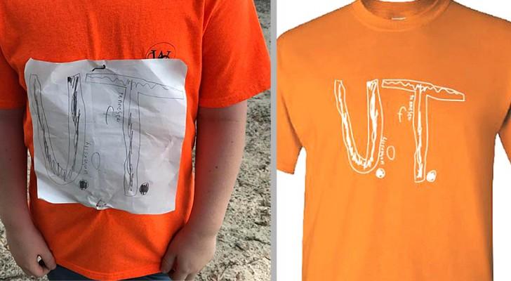 Um menino sofre bullying por causa da sua camiseta desenhada à mão: a Universidade a transforma em camiseta oficial do instituto