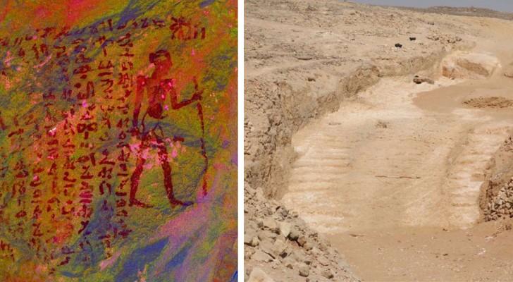 Archäologen entdecken die abfallende Rampe, die es den alten Ägyptern ermöglichte, die Pyramiden zu bauen