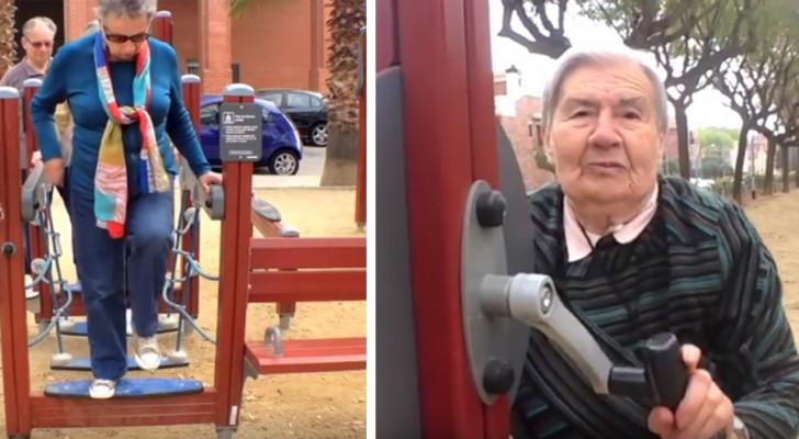 In Spagna nasce il parco giochi per anziani: così combattono la solitudine e si mantengono in forma