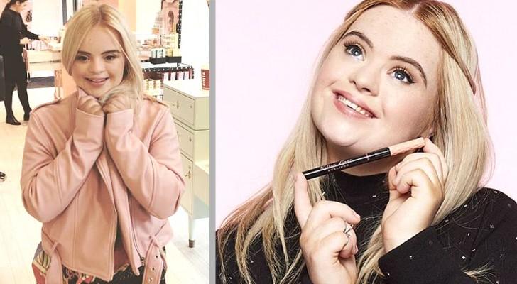 Dit bedrijf koos een meisje met het syndroom van Down als testimonial voor haar cosmetica