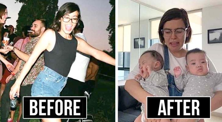 Prima e dopo un figlio: 18 foto esilaranti che mostrano come cambia la vita con un bambino