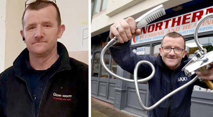 L'histoire de James Anderson, plombier anglais qui fait des réparations gratuites en faveur des plus démunis