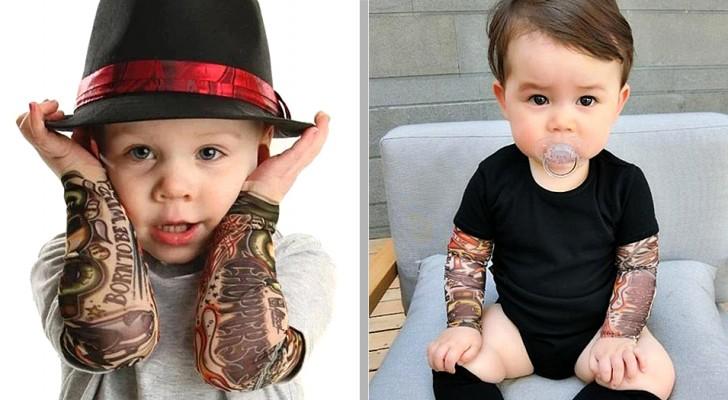 Ces petits maillots aux manches tatouées feront de vos enfants de vraies rock stars