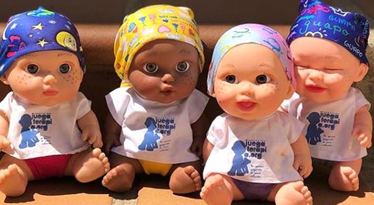 Queste bambole con il foulard stanno aiutando i bambini malati di cancro a ritrovare il sorriso