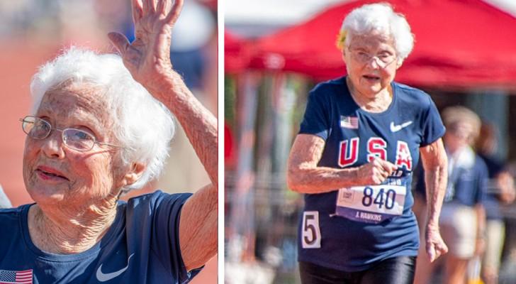 Ha 103 anni e vince l'oro nei 100 metri: è la donna più anziana a correre in una gara di atletica nel suo Paese
